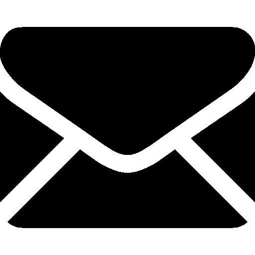 forma de sobre cerrado trasero negro  icono gratis
