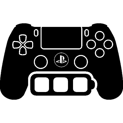 инструмент управления игрой с символом полной батареи  бесплатно иконка