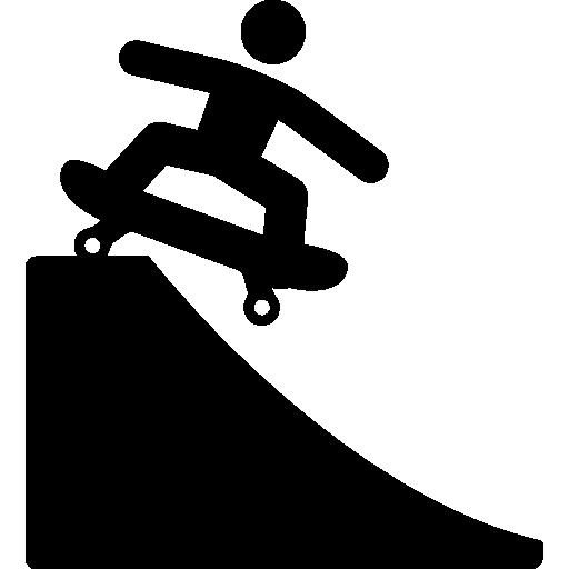 Skateboard extreme sport silhouette  free icon