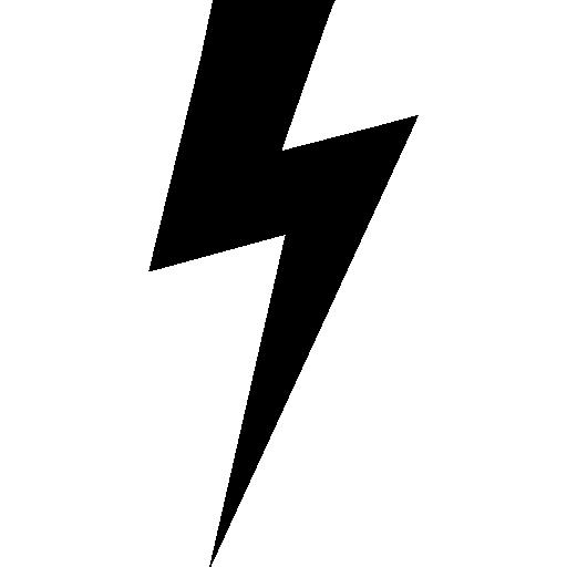 forme noire éclair  Icône gratuit