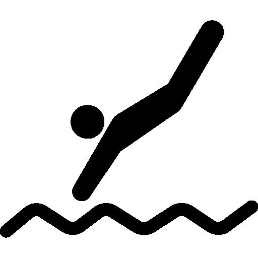 물에 수영 다이빙  무료 아이콘