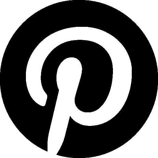 symbole du logo circulaire pinterest  Icône gratuit