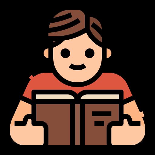 en train de lire  Icône gratuit