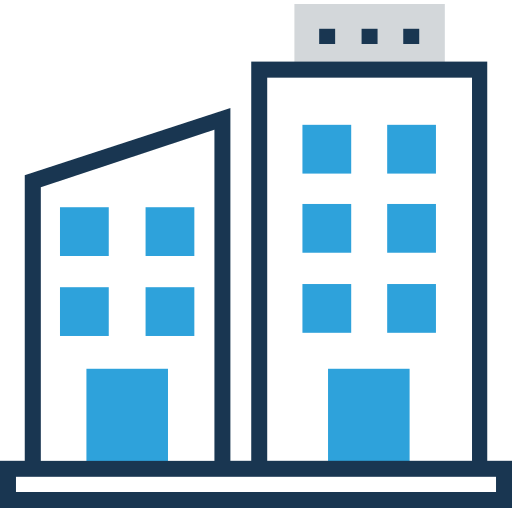 bloco de escritórios  grátis ícone