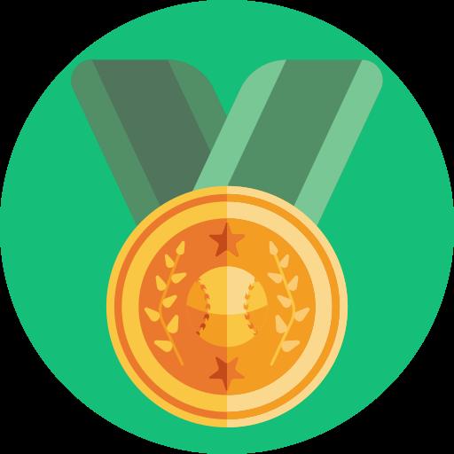 Круглая медаль  бесплатно иконка