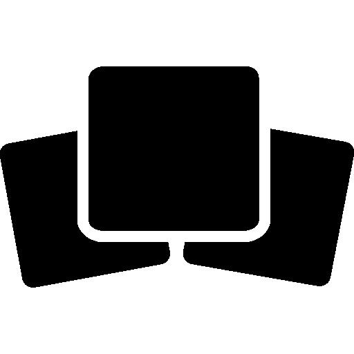 Three black squares  free icon