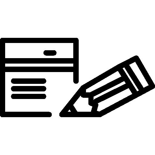 bloco de notas pequeno e contornos a lápis  grátis ícone
