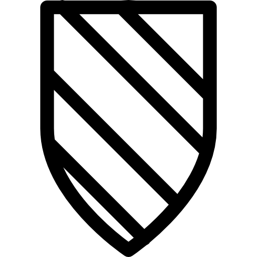 variante de escudo com design de listras  grátis ícone