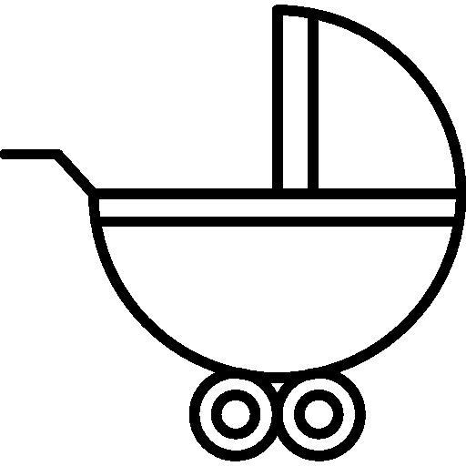 바퀴가 달린 유모차  무료 아이콘