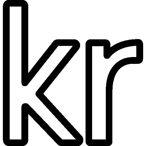 símbolo de moneda corona sueca  icono gratis