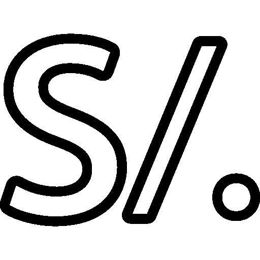 símbolo da moeda peru nuevo sol  grátis ícone