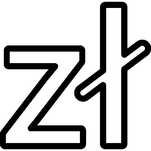 폴란드 즐 로티 통화 기호  무료 아이콘