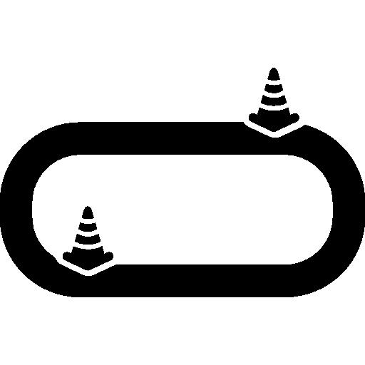 차량 테스트를위한 스포츠 서킷  무료 아이콘