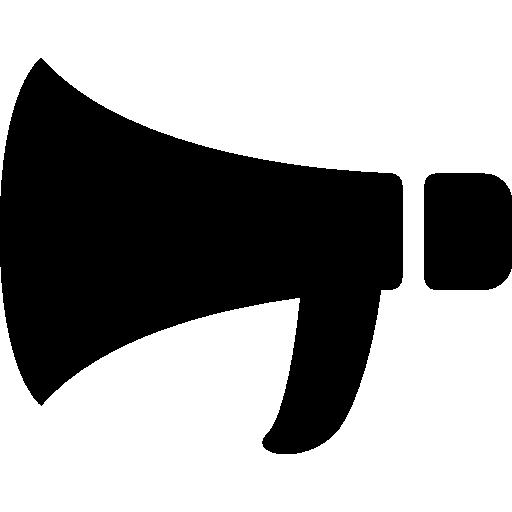 silhouette de mégaphone  Icône gratuit