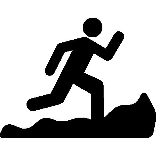 산 달리기 실루엣  무료 아이콘