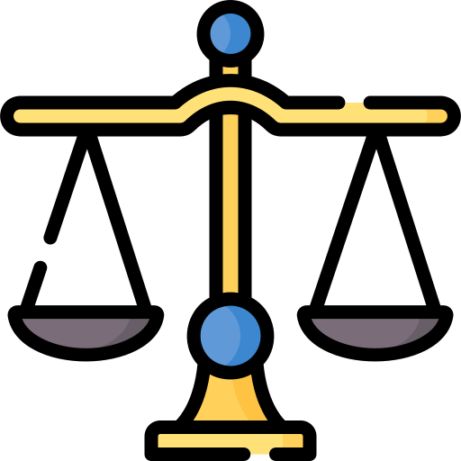 Justice scale  free icon