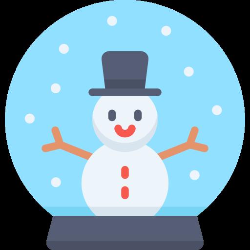 globo de nieve  icono gratis