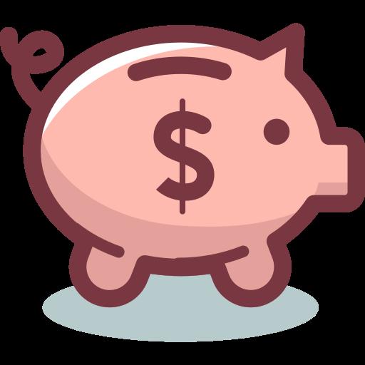 Piggy bank  free icon