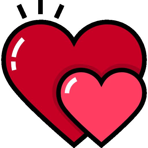 corazones  icono gratis