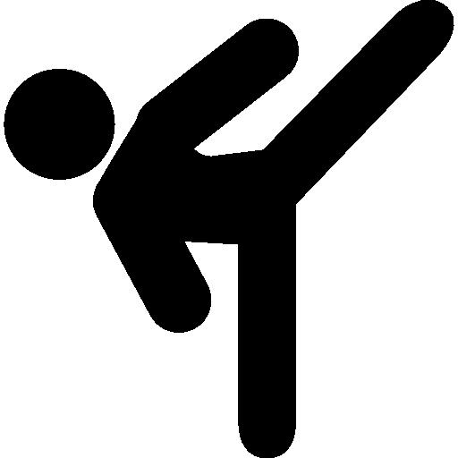킥복싱을 연습하는 사람  무료 아이콘