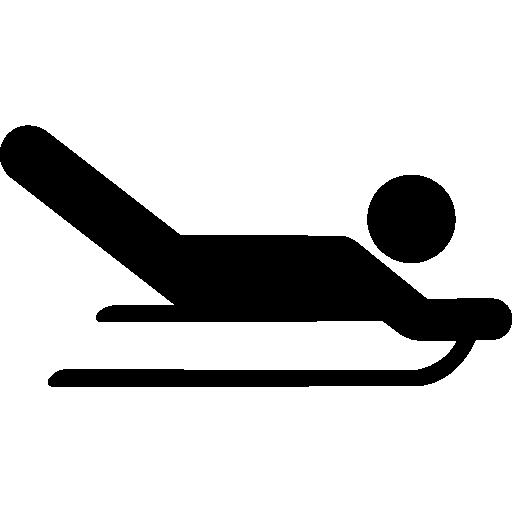 silhouette squelette olympique  Icône gratuit