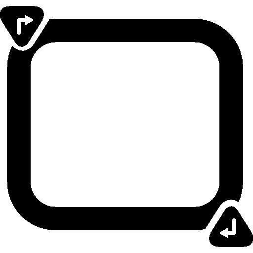 모터 스포츠 용 차량 테스트 회로  무료 아이콘
