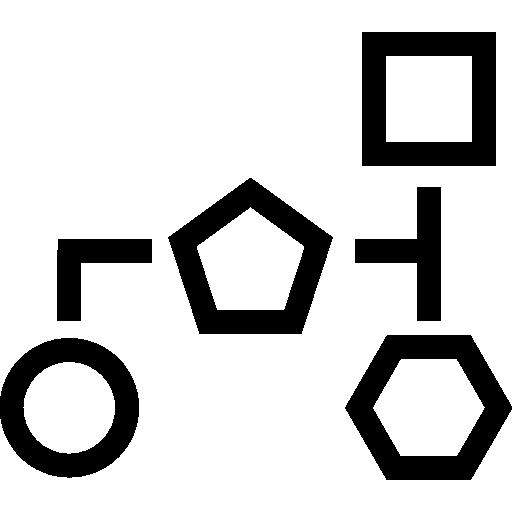 esquemas de bloques con contornos de formas geométricas básicas  icono gratis