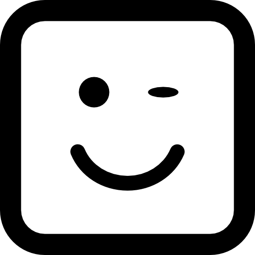 윙크 페이스 스퀘어  무료 아이콘