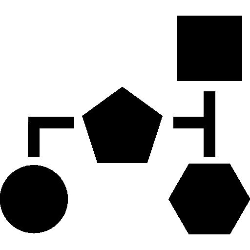 esquema de bloques de formas geométricas negras básicas  icono gratis