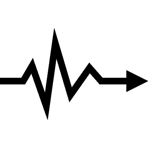 herzschlag lebenslinie pfeilsymbol  kostenlos Icon