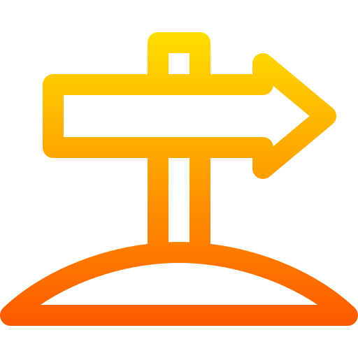 panneau de direction  Icône gratuit