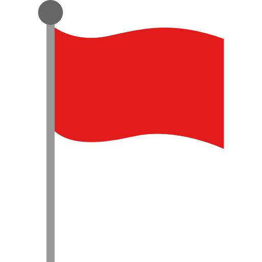 Red flag  free icon