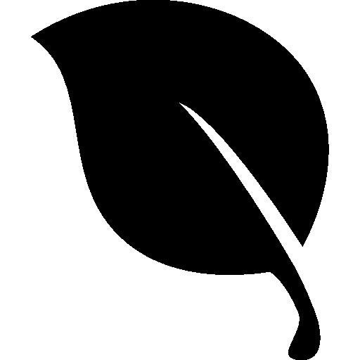 Leaf black natural shape  free icon