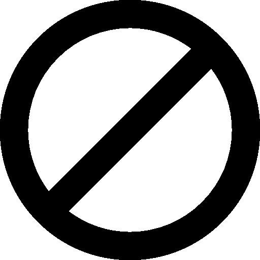 Знак остановки или запрета  бесплатно иконка