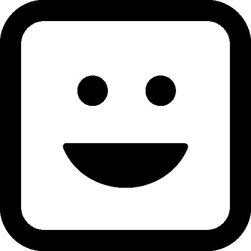 이모티콘 스퀘어 미소  무료 아이콘
