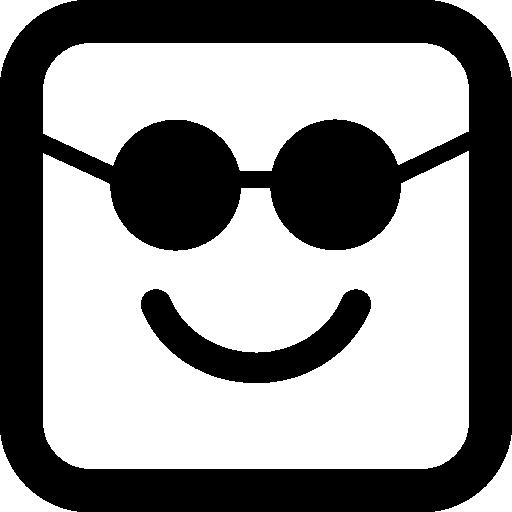 Смайлики квадратное лицо в солнцезащитных очках  бесплатно иконка