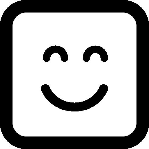 닫힌 된 눈으로 이모티콘 광장 웃는 얼굴  무료 아이콘