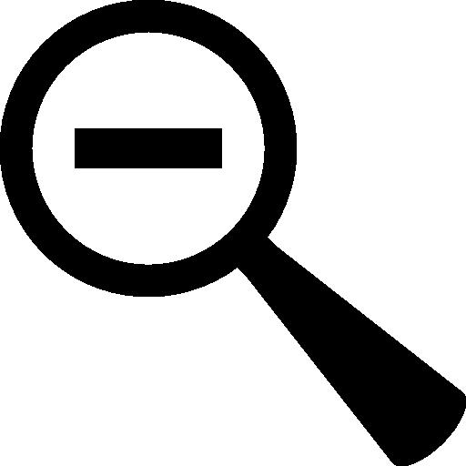 zoom arrière symbole de la loupe avec signe moins à l'intérieur  Icône gratuit