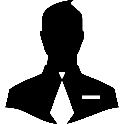 Male close up silhouette with tie  free icon