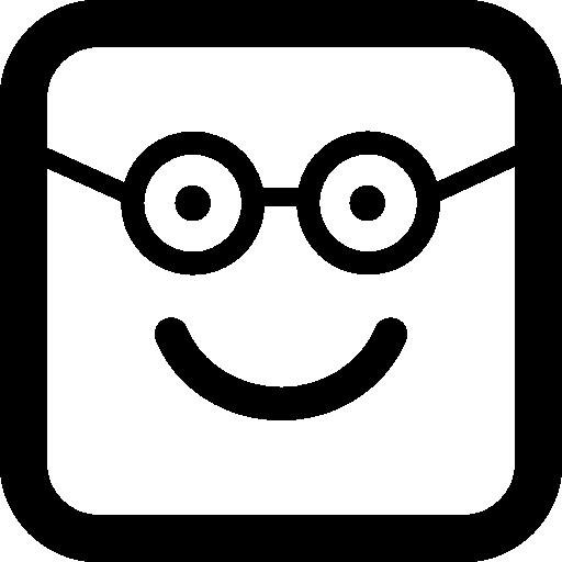둥근 사각형 얼굴에 대단하다 행복 웃는 얼굴  무료 아이콘
