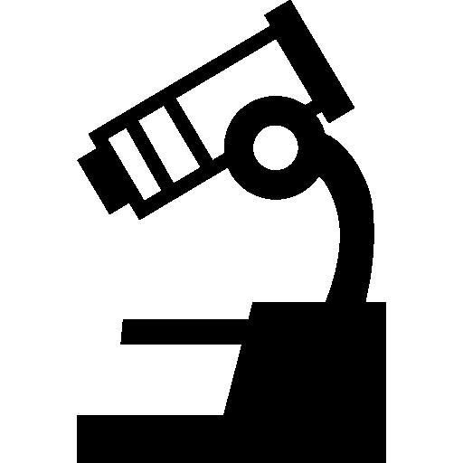 현미경 과학 도구 측면보기  무료 아이콘