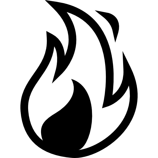 Fire flame  free icon