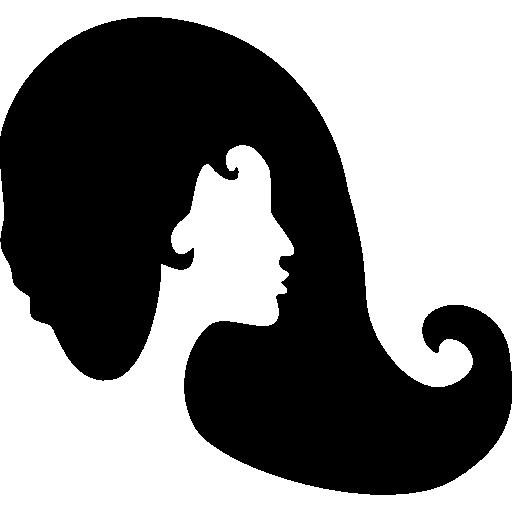 Woman hair  free icon