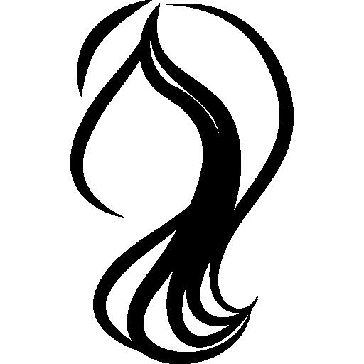 Female hairs  free icon