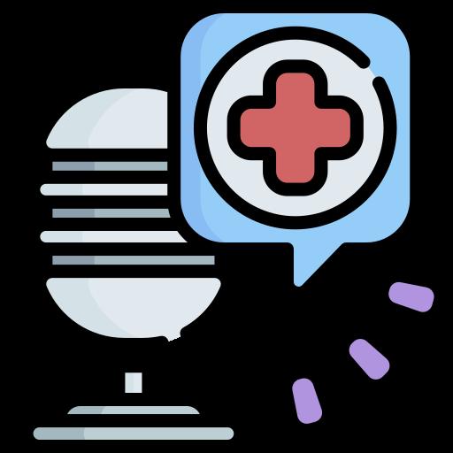 건강 팟 캐스트  무료 아이콘