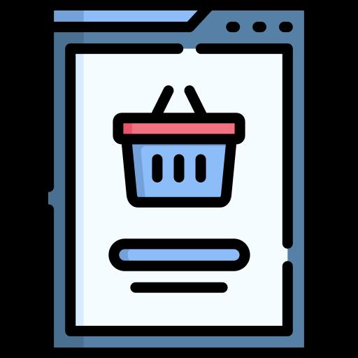 Покупки в интернет магазине  бесплатно иконка