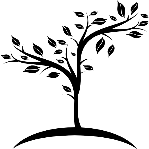 Small fruit tree growing on earth  free icon