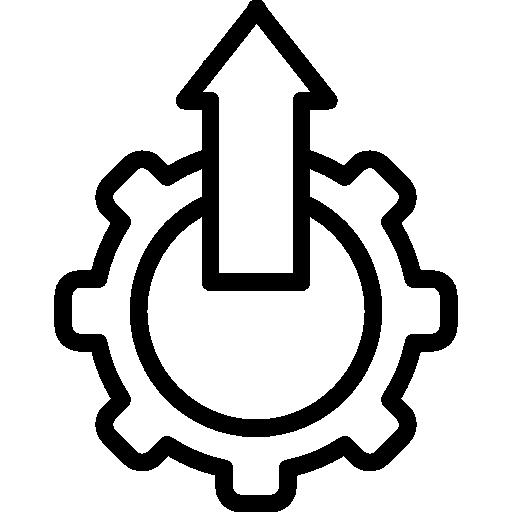 einstellungssymbol mit aufwärtspfeil in einem kreis  kostenlos Icon