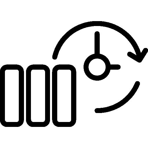 símbolo de contorno delgado de copia de seguridad en un círculo  icono gratis