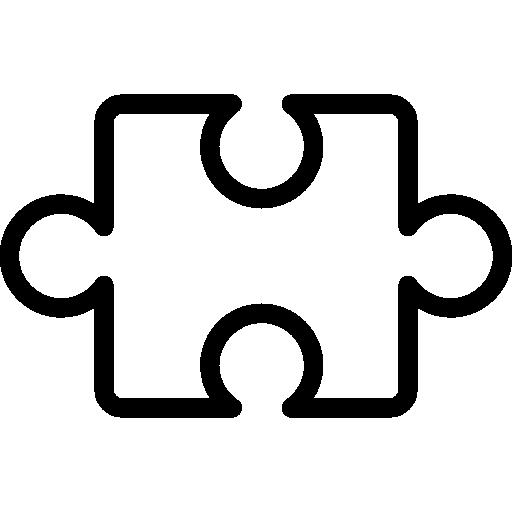 contour de pièce de puzzle à l'intérieur d'un cercle  Icône gratuit